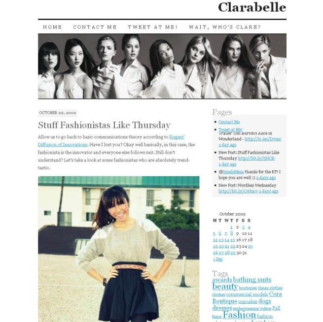 Clarabelle Oct. 09