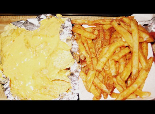 Pink's nachos and fries
