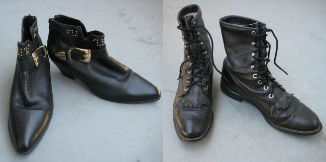 Rose Bowl Flea Market boots