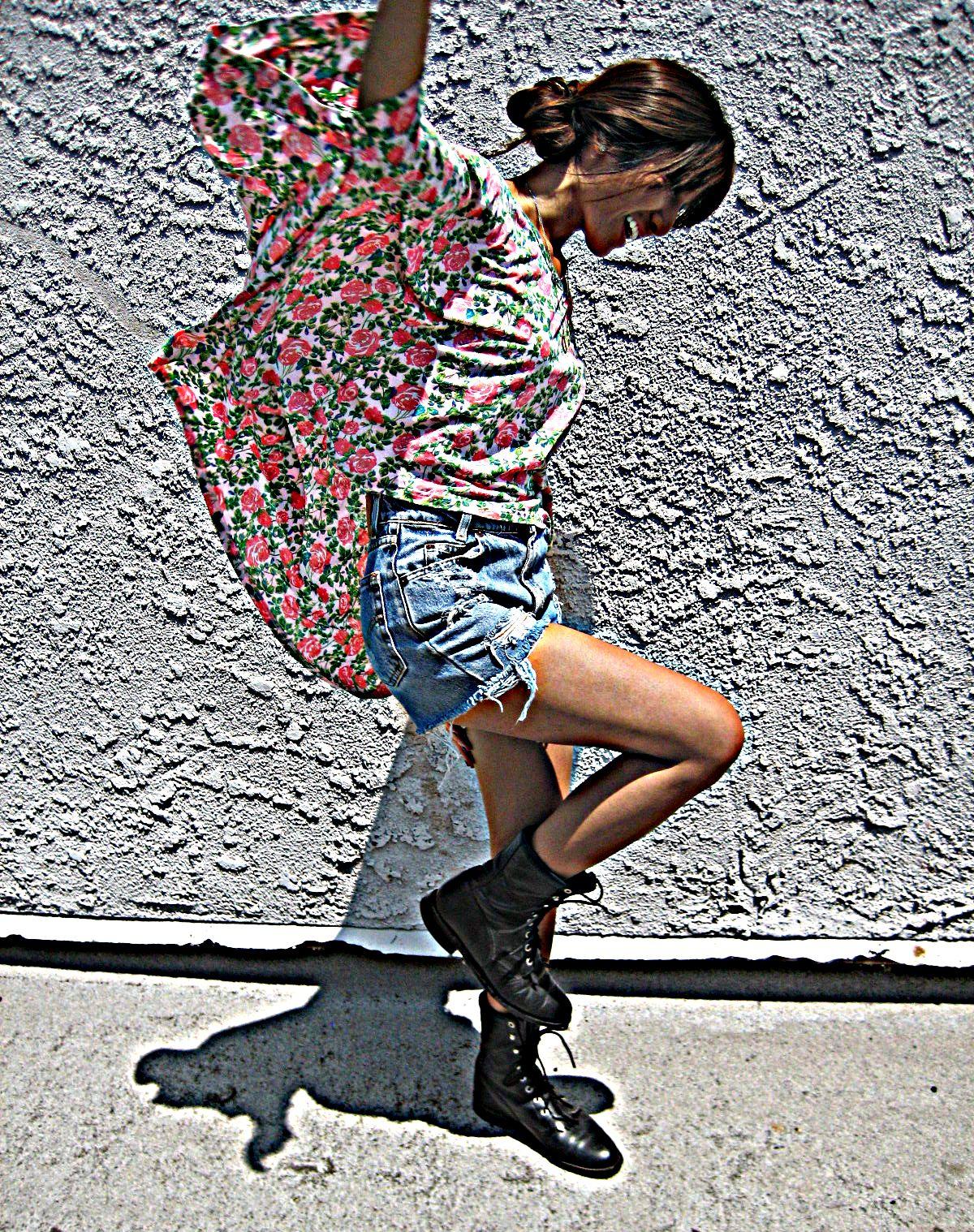 Topshop cropped shirt_Justin Roper boots