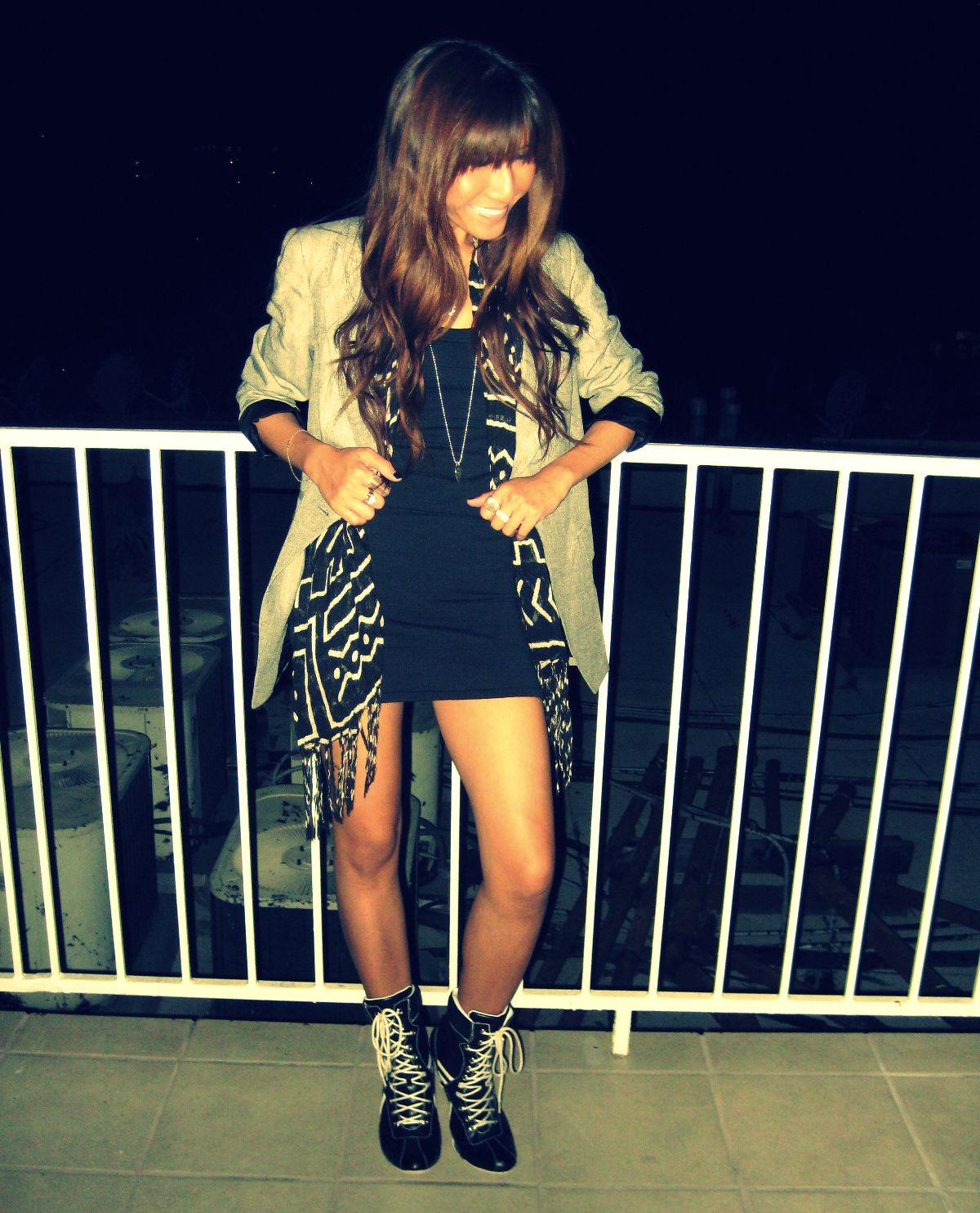 Zara blazer_Vintage shoes