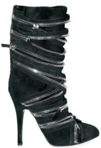 Balmain Multi-Zip Suede Boots