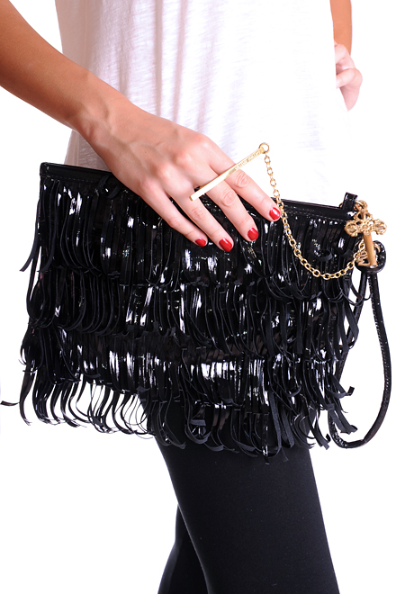 William Phillips Poison Fringe Clutch1