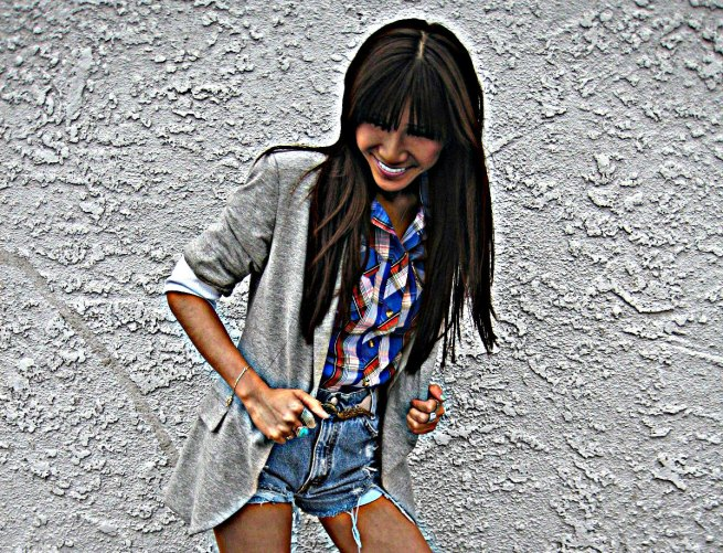 Zara blazer_UO shirt and shorts_Topshop belt4