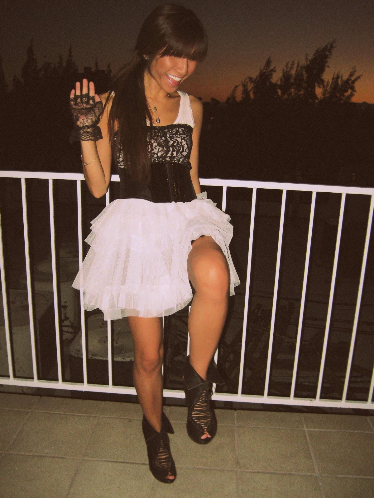 HM dress_Rampage top_JC shoes