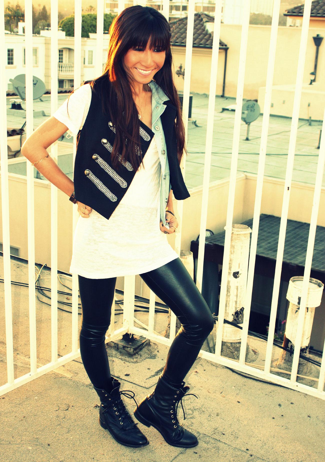 Target vest_UO shirt_Kova T leggings