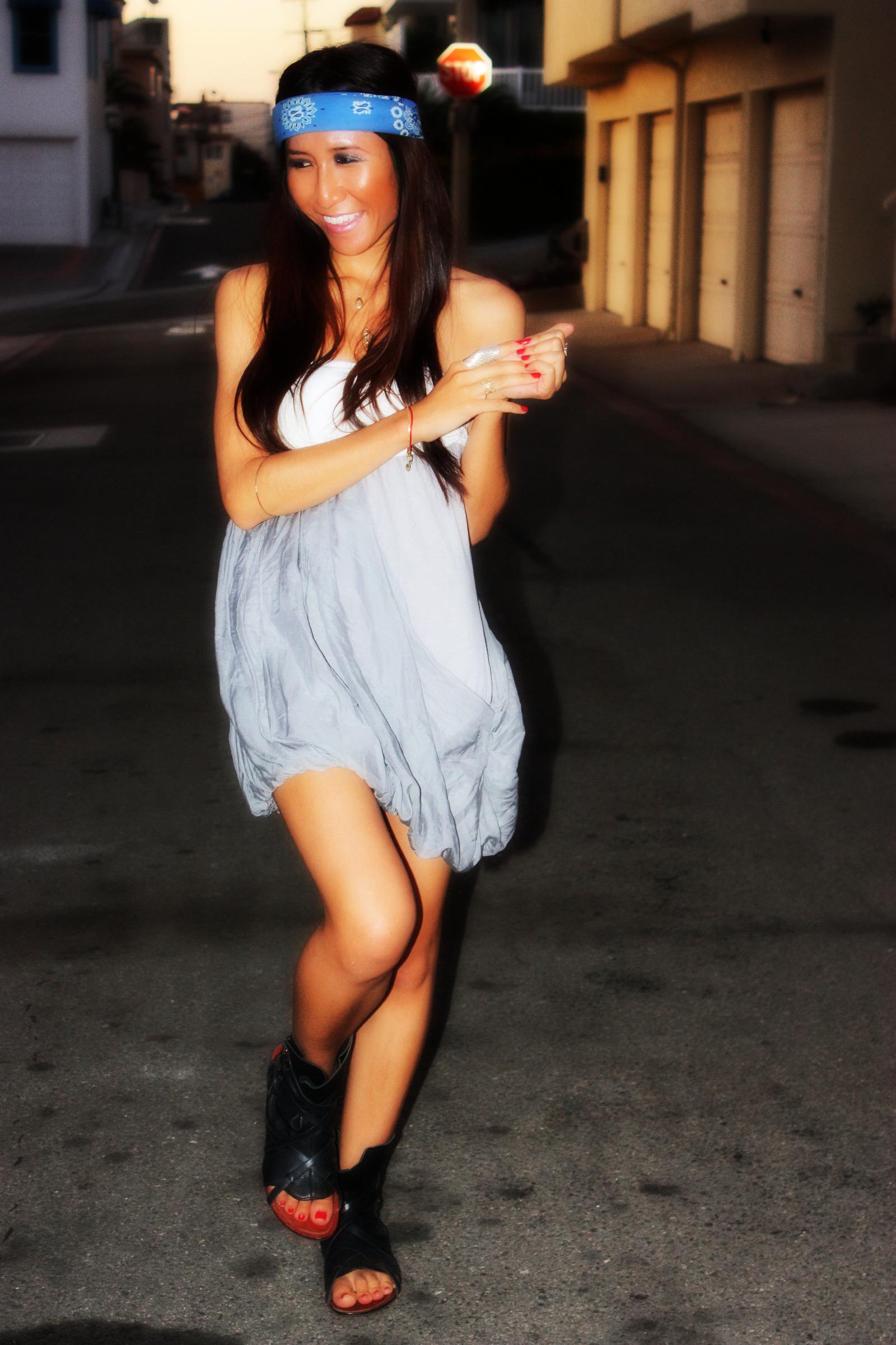 Forever 21 dress_Dolce Vita Phoenix sandals_Bandana2